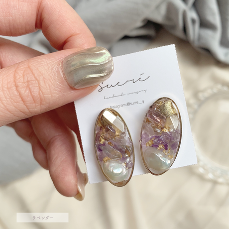 【sucré】natural stone pierce / earring