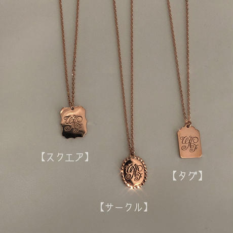 【Philly chocolate】WNF necklace (Pink gold)