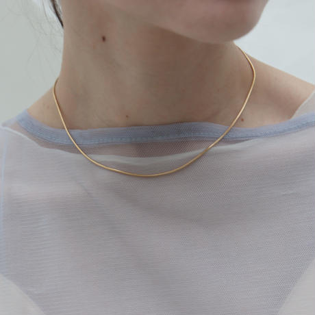 【emiru】Frill Mantel Necklace(Silver/Gold)
