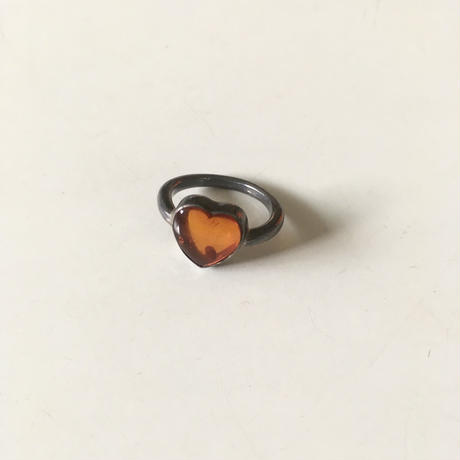 vintage silver × amber ring