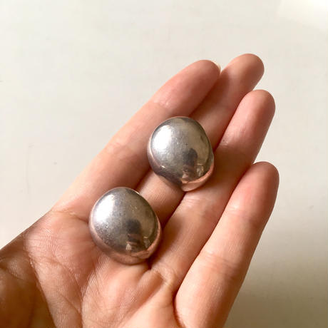 vintage modernist silver earrings