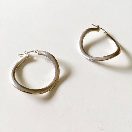 Vintage sterling silver hoop pierced earrings