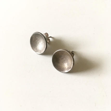 vintage modernist silver pierced earrings