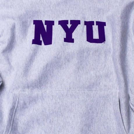 NYU  CHAMPION HEAVY WEIGHT HOODIE