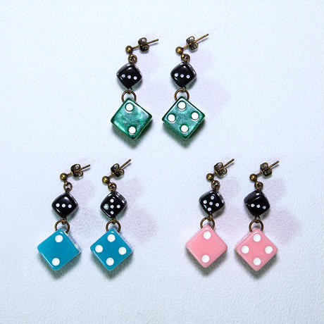 pierce & earring twin dice