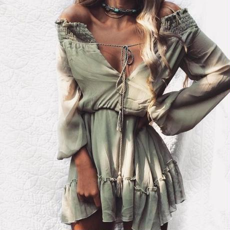 B084   Sexy off shoulder  dress