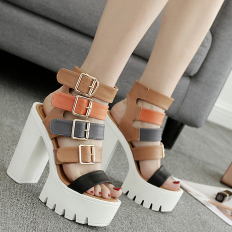 B117 Multicolor Gladiator Sandals