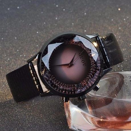 GUOU luxury diamonddesign watch black