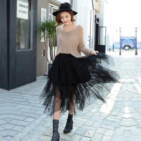 B106 Korea style tulle skirt