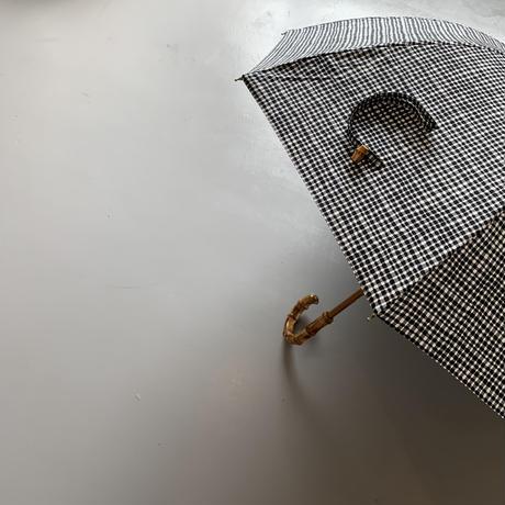 bonbonstore   ニューベーシック長傘 ドローイングチェック(ブラック)