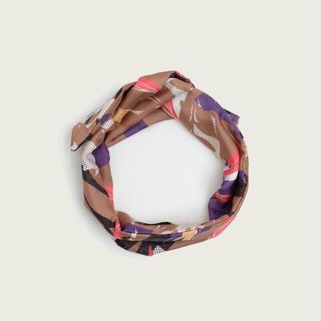 YARN&COPPER     Silk  'Wednesday'  ヘッドスカーフ/ミニスカーフ