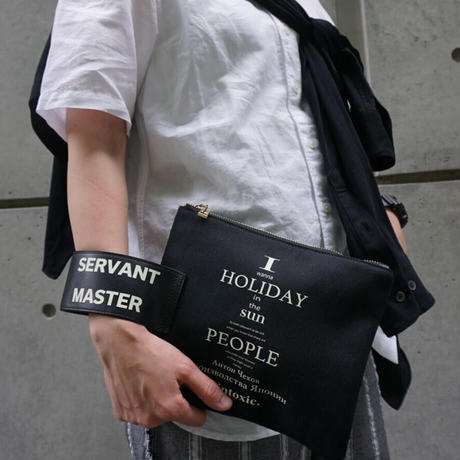 INTOXIC.  HOLIDAY  RECORD  CLUTCH  black