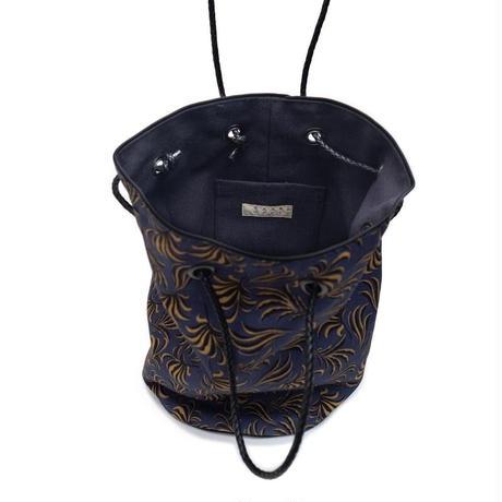 YARN&COPPER   Linen bucket bag 'Pearsham' navy
