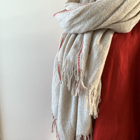 suzuki takayuki   herring-bone shawl   nude 215-01