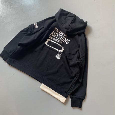 THOMAS MAGPIE sweat parka   logo【2211802】