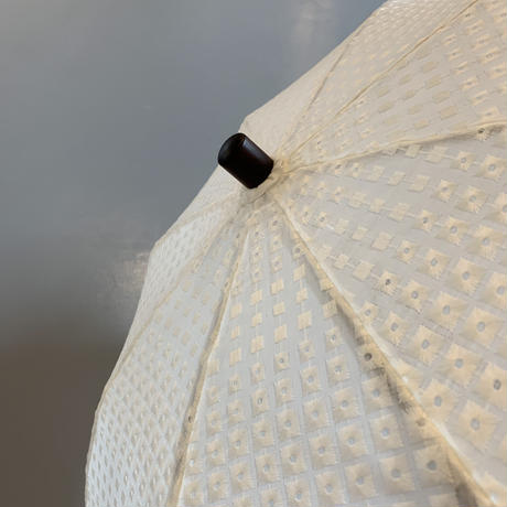 bonbonstore 刺繍日傘/ドット 40cmショートタイプ(オフホワイト)
