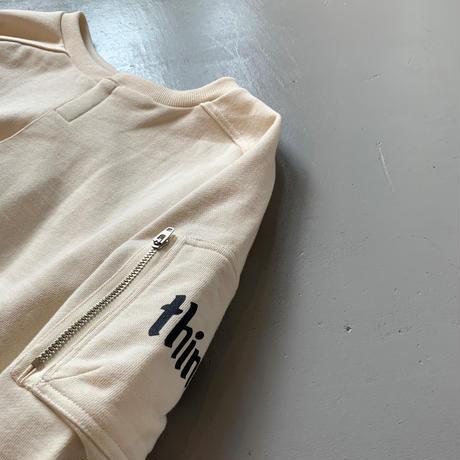 THOMAS MAGPIE sweat cardigan logo【2211801】