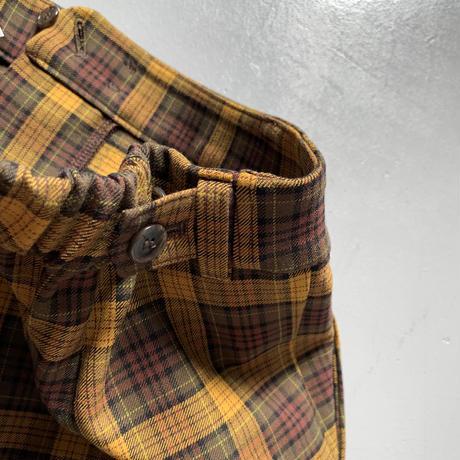 THOMAS MAGPIE check tuck pants 2204306