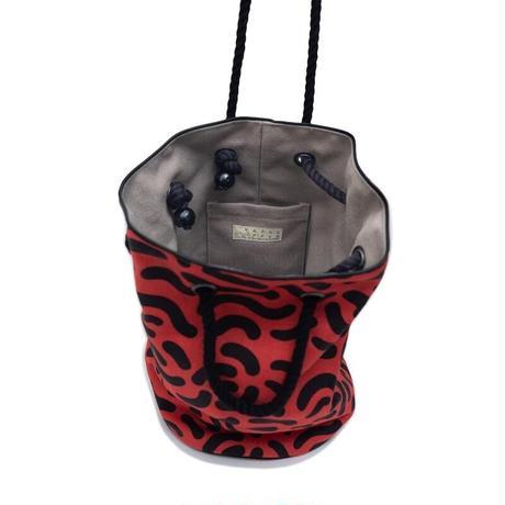 YARN&COPPER Linen bucket bag 'Dalston' Red
