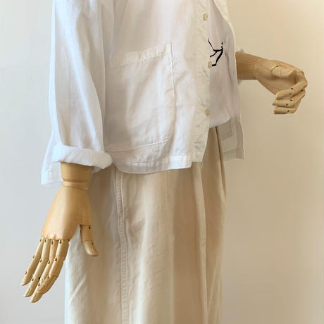 HARVESTY  ATELIER SHIRT(アトリエシャツ)A31801 WHITE