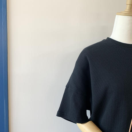 HARVESTY   WAFFLE BIG T-SH(ワッフルビッグTシャツ) BLACK A51904
