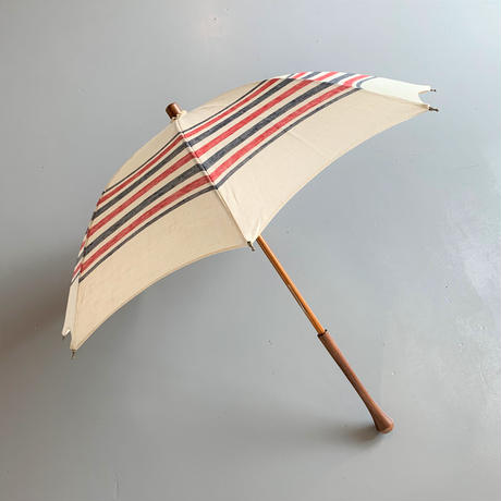 bonbonstore トリコロールボーダー日傘  40cmショートタイプ