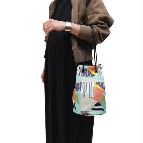 YARN&COPPER Linen bucket bag 'Early Riser'
