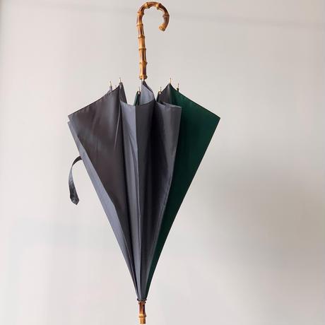 バイカラー長傘  グリーン×グレー BON-20016