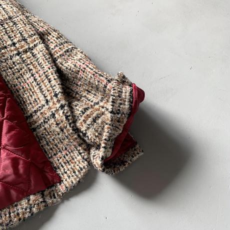 SINME  パテッドジャケット  ブラック×ピンクライン   SK02-2