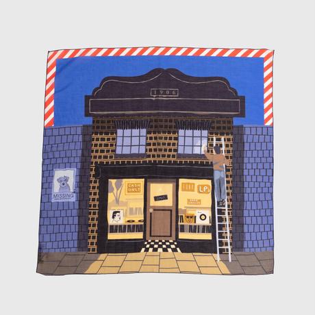 'Record Shop'  Night   8リング付きミニスカーフ