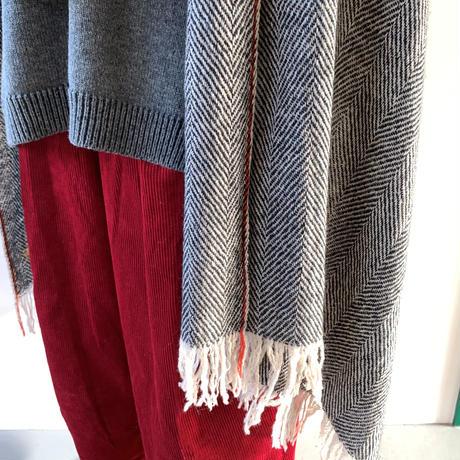 suzuki takayuki   herring-bone shawl   black 215-01