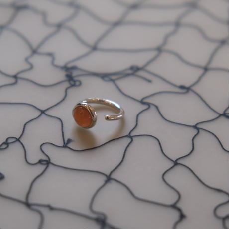 MONICA CASTIGLIONI   MR128S  FILI FUSI FINI 15  with  orange moonstone/Silver
