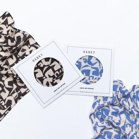 YARN&COPPER  Double gaze Organic cotton 'Athens' ハンカチ