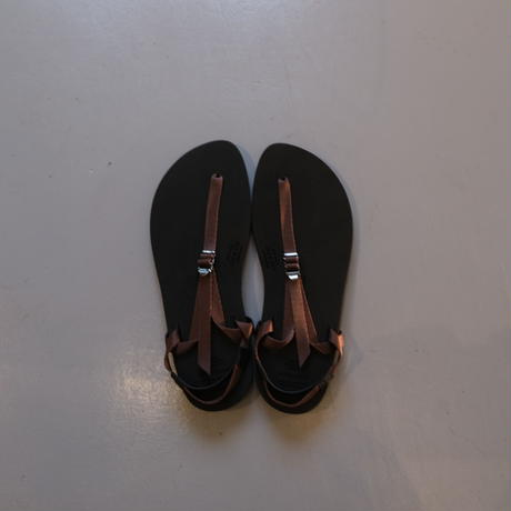 """BEAUTIFUL SHOSE  barefoot sandals """"THICK SOLE"""" BSS1812006  BROWN"""