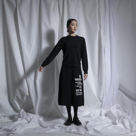 THOMAS MAGPIE back tuck logo knit【2211703】