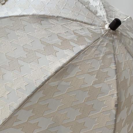 千鳥格子 エンブロイダリー日傘