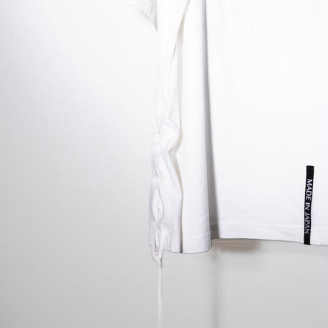 EGSOLID SIDE LACE UP TEE IN White