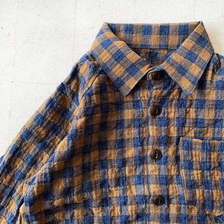 チェックワイドシャツ
