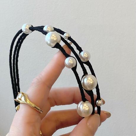 (394)Sprinkle pearl hair band
