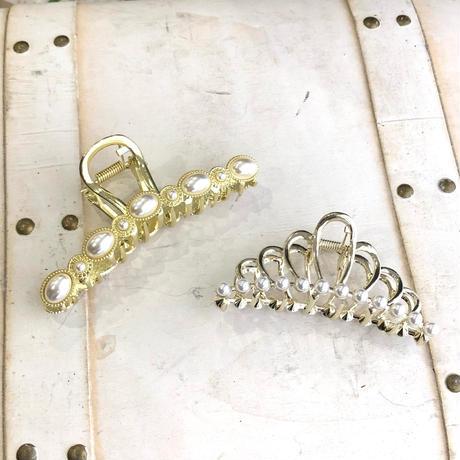 (396)crown pearl vance clip