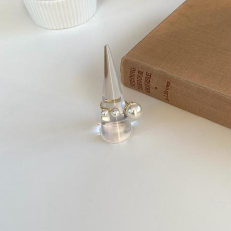 (135)triple pearl ring