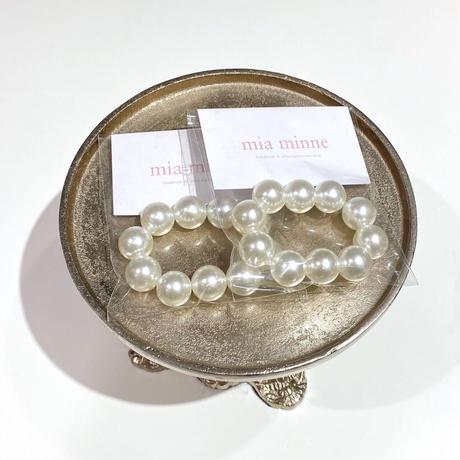 (142) pearl hair rubber bracelet