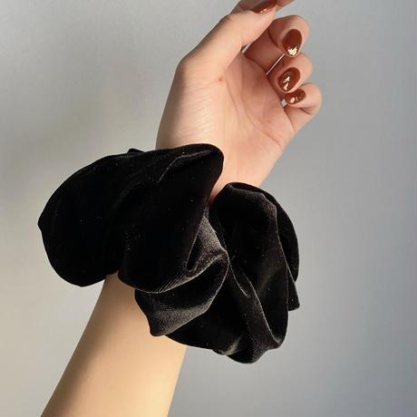 (408)velour chouchou 【black】