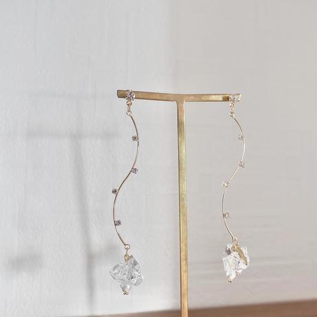 wave clear pierce/earring