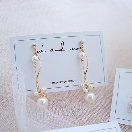 Swarovski Pearl  pierce/earring