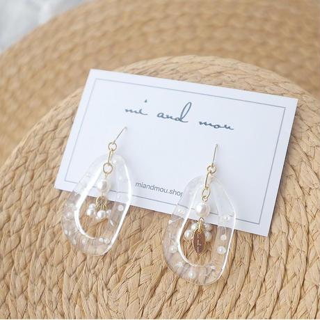 Pearl resin pierce/earring