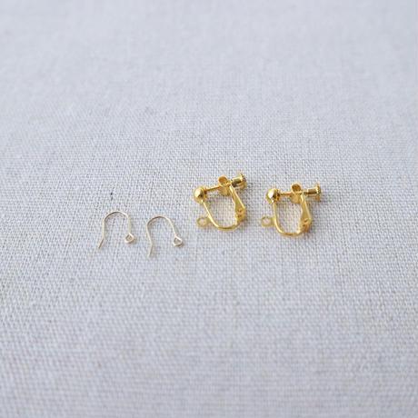 Flower Pearl  pierce/earring
