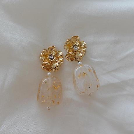 Big flower pierce/earring