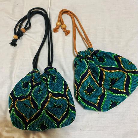 アフリカ ハンドメイド巾着バッグ