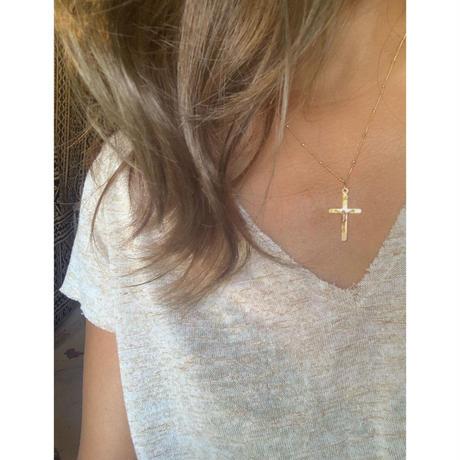 14kgf シンプル十字架ネックレス
